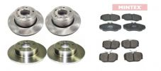 Land Rover Discovery 2 - FRONT & REAR Brake Discs + Mintex Brake Pads Set